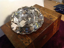 Vintage Silver Plate Decorative bonbon Sweet bowl Finger Bowl with Saucer
