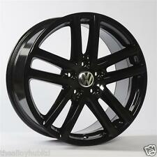 GENUINE VOLKSWAGEN 5X120 TWIN SPOKE GLOSS BLACK 19INCH ALLOY WHEELS X4, TOUAREG
