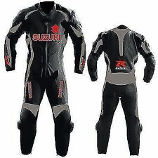 Suzuki  Motorcycle Leather Suit Motorbike Leather Racer Suit -All Size
