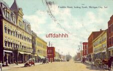 FRANKLIN STREET LOOKING SOUTH, MICHIGAN CITY, IN 1909