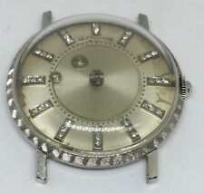 JAEGER LECOULTRE MYSTERY DIAMOND 18K SOLID WHITE GOLD AUTOMATIC UNISEX WATCH