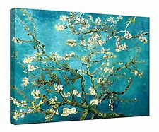 Almond Blossom by Van Gogh Art Giclee Canvas Print Reproduction Poster Framed