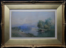 EDWARD RICHARDSON 1810-1874 SWISS RHINE ALPS LANDSCAPE VICTORIAN ART PAINTING