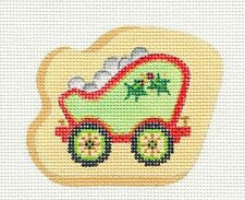 Strictly Christmas Train Coal Car w/ Holly handpainted HP Needlepoint Canvas  #2