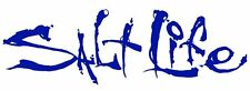 "Salt Life Signature ""BLUE 06 inch Small Decal - UV rated vinyl *FREE SHIPPING*"