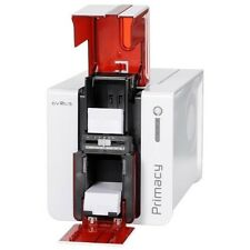 EVOLIS PRIMACY PVC CARD PRINTER Duplex Sided USB ETHERNET RED PM1H0000RD NEW
