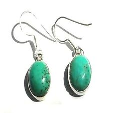 New Pair of 925 Sterling Silver Stabilized Turquoise Dangle Earring