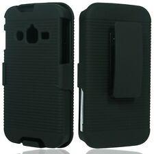Samsung Galaxy Rugby Pro I547 Hard  Case Cover+Holster Belt Clip Stand Black sm