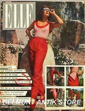 Elle n°238 - 1950 - Orange et bleu - Cannes - Le justaucorps -  Mode d'été -