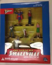 DC DIRECT THE SILVER AGE OF SMALLVILLE 7 PIECE PVC SET