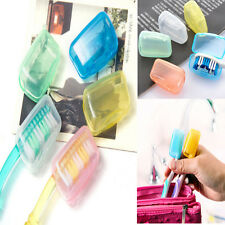 5pc Travel Camping Toothbrush Head Protect Holder Brush Cap Clean Box Case Cover