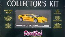 DETAIL CARS DETAILCARS COLLECTOR'S KIT 1:43 DIE CAST LAMBORGHINI DIABLO ART 8000