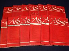 1938 THE ATLANTIC MONTHLY MAGAZINE LOT OF 12 COMPLETE YEAR - GREAT ADS - WR 187