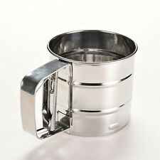 Stainless Steel Mesh Flour Sifter Baking Icing Sugar Shaker Sieve Cup Shape FG