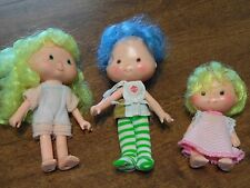Vintage Strawberry Shortcake Lot of 3 Dolls