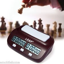 LEAP PQ9907 Digital Chess Clock I-go Count Up Down Timer for Game Competition