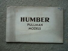 HUMBER PULLMAN 1932 BROCHURE  jm