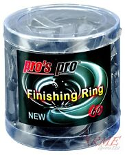 Pro's Pro Finishing Rings Black 60 Pack - To Hold Tennis Grips in Place
