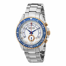 SO & CO Men's 5015.2 Sport Yacht Club Calendar Silver