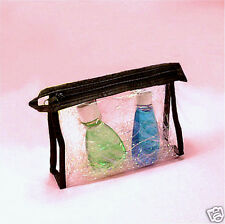 Clear Soft Vinyl Zipper Cosmetic Travel Case Bag Pouch