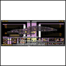 Fridge Fun Refrigerator Magnet STAR TREK USS VOYAGER Starship LCARS Schematic