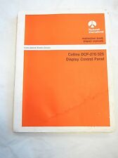 Collins Service Repair Manual Instruction Book DCP-270 325 Display Control