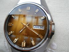 NEW OLD STOCK,1972 MOON SEIKO DX  PRESIDENT, 17 RUBIS PUSH QUICK SET,SS BRACELET
