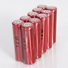 10PCS 18650 GTL Li-ion 5300mAh 3.7V Rechargeable Battery for LED Flashlight CFE