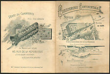 CATALOGUE CORDONNERIE CONTINENTALE LYON SHOE REPAIR CATALOG VERS 1900