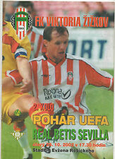 Orig.PRG    UEFA Cup  2002/03   FK VIKTORIA ZIZKOV - REAL BETIS SEVILLA ! SELTEN