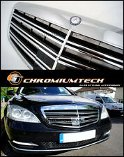 2010-12 Mercedes W221 S-Class Facelift S63 Double line AMG Style CHROME GRILL