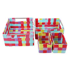 4 Piece Multipurpose Storage Basket Set - Fluorescent