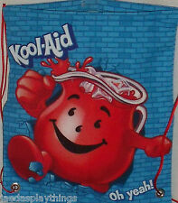 Kool-Aid Draw String Back Sack Backpack NEW Promo Red Blue FREE US Ship