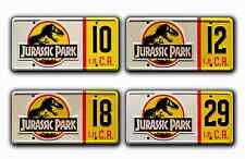 Jurassic Park Jeep Wrangler / #10 #12 #18 #29 *STAMPED* Prop License Plate Combo
