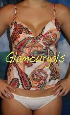 New Victorias Secret Forever Sexy Miracle Bra Push Up Paisley Tankini Sz 36DDD