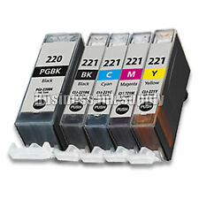 5 PACK New Ink Set for Canon CLI-221 PGI-220 Pixma MP560