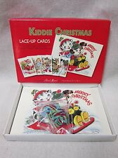 Moda Kiddie Lace-Up Christmas Cards Learn To Sew New Old Stock #998-20