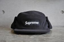 Supreme Polartec Fleece Earflap Black Box Logo Camp Cap