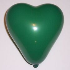 100 Heart Shape Green 6 inch Qualatex Balloons Latex In