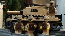 Desert Warfare KM-10 Army Battle Tank 4 Army minifigure soldiers Lego parts Set