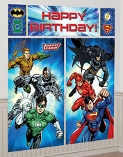 6ft Justice League Superhero Birthday Party Giant Scene Setter Banner Decoration