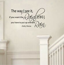 The Way I See It If You Want The Rainbow Vinyl Wall Quote Decal Home Art Decor