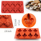8-Cavity Vermilion Silicone Lily Cake Ice Cube Soap Chocolate Mold Baking Pan