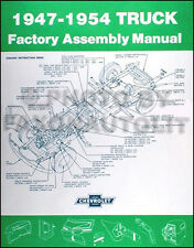 1947-1954 Chevrolet Pickup Truck Assembly Manual Chevy Factory