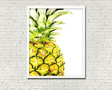 8 x 10in PINEAPPLE CLOSE UP tropical summer fruit kitchen wall art poster print