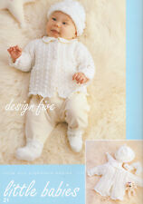 BABY  reborn knitting pattern  lacy  cardigan hat booties   prem 10 to 16 inch