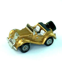 Micro Machines Vehicle Car MG TF Vintage Antique Automobile Gold Galoob
