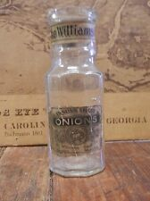 Vtg  - THE WILLIAMS BROS. Co English Spiced Onions  Clear Glass BOTTLE