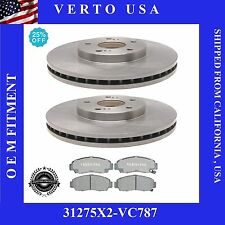 Front Brake Kit Rotors & Ceramic Pads, For Honda Accord , Acura CL , TL, TSX