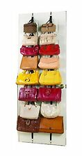 2 Racks Hanging Purse Handbag Bag Storage Over The Door Stand Organizer Closet